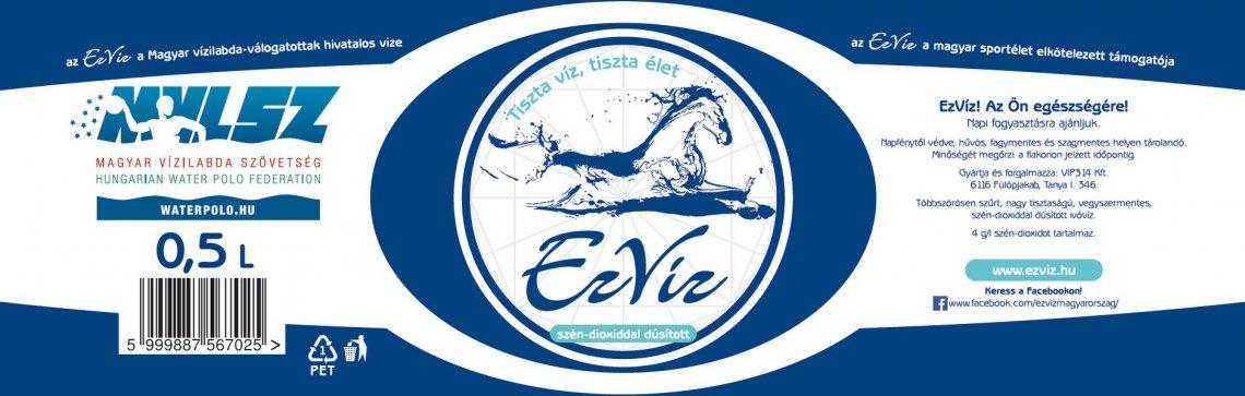 Szénsavas EzVíz 0,5 Liter - az EzVíz a magyar sportélet elkötelezett támogatója